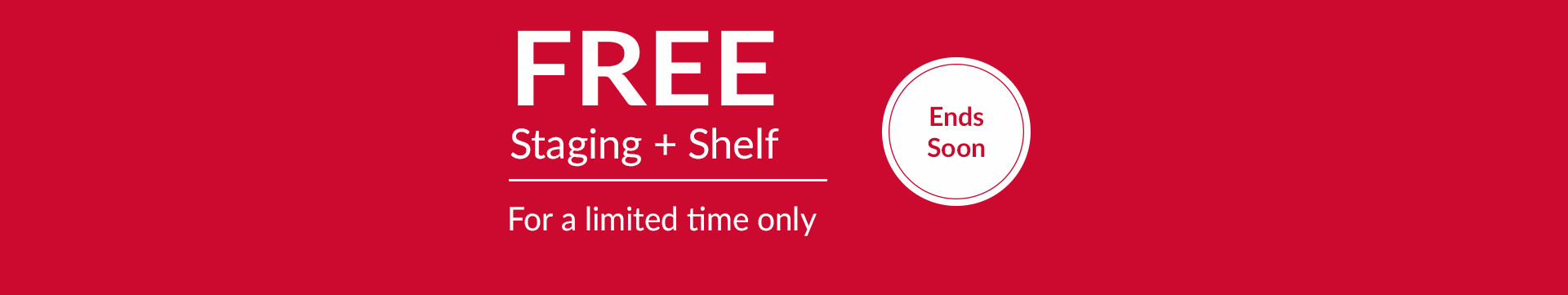 Free staging offer